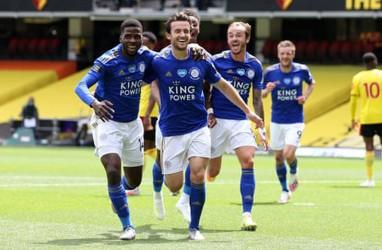 Hasil Liga Inggris : Ditahan Leicester, Watford Terancam Degradasi