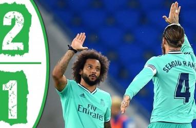 Gol Benzema dan Ramos Bawa Real Madrid Gusur Barcelona dari Puncak Klasemen