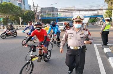 600 Orang di Kawasan CFD Jakarta di-Rapid Test, Polri: Semuanya Negatif Corona