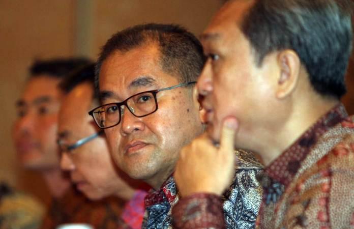 Presiden Direktur PT Puradelta Lestari Tbk Hongky Jeffrey Nantung, menjawab pertanyaan wartawan, usai rapat umum pemegang saham perseroan, di Jakarta, Selasa (23/4/2019). - Bisnis/Endang Muchtar