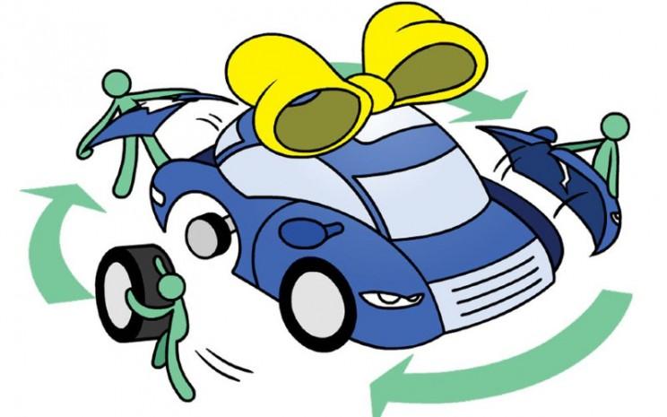 Daur ulang mobil.  - Bloomberg.
