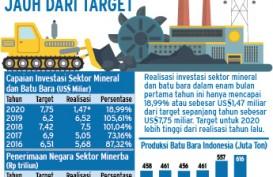 PROYEKSI KINERJA 2020 : Investasi Minerba Bisa Meleset