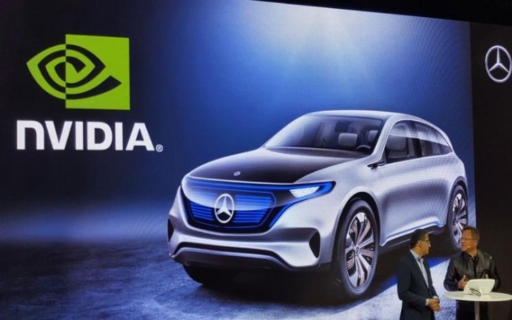Ilustrasi NVIDIA dan Mercedes saat CES 2017 - NVIDIA