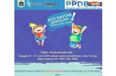 PPDB Jakarta 2020: Pendaftaran Jalur Zonasi SD, SMP, SMA Dibuka Hari Ini