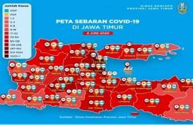 14 Kota/Kabupaten dengan Kasus Covid-19 Tinggi di Jatim