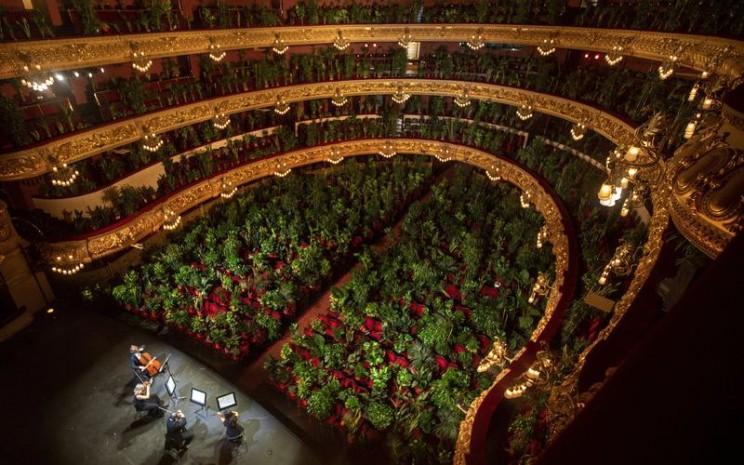 Konser opera di Barcelona dihadiri oleh 2.300 tanaman. - NPR