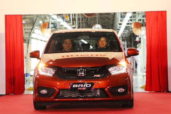 All New Honda Brio Line Off Export Ceremony di Karawang, Selasa (26/3/2019). - KEMENPERIN