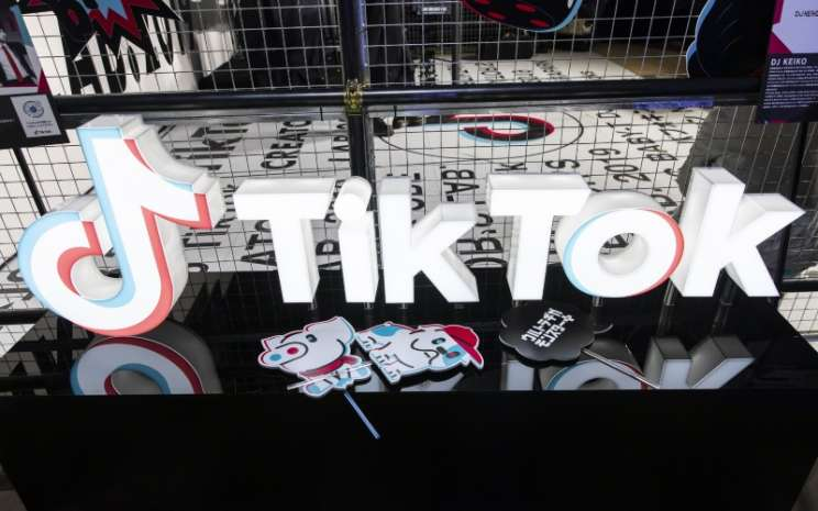 Logo TikTok. TikTok kini sedang menguji coba platform bernama Creator Marketplace di Indonesia - Bloomberg/Shiho Fukada