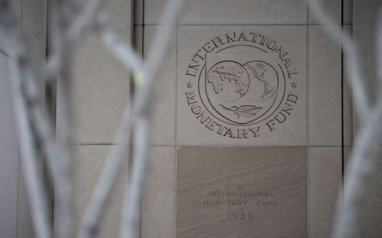 Kantor pusat Dana Moneter Internasional (IMF) di Washington D.C., AS -  Bloomberg / Andrew Harrer