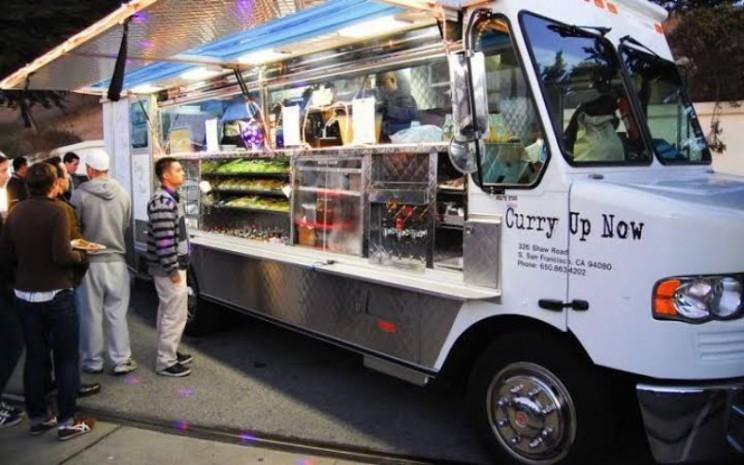 Ilustrasi food truck