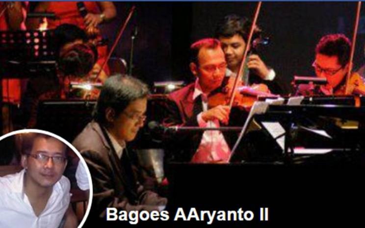 Tangkapan layar akun facebook Bagoes AAryanto II. Hari ini musisi senior ini meningal dunia di Jakarta. Akun Iwan Fals mencuitkan kepergian almarhum.