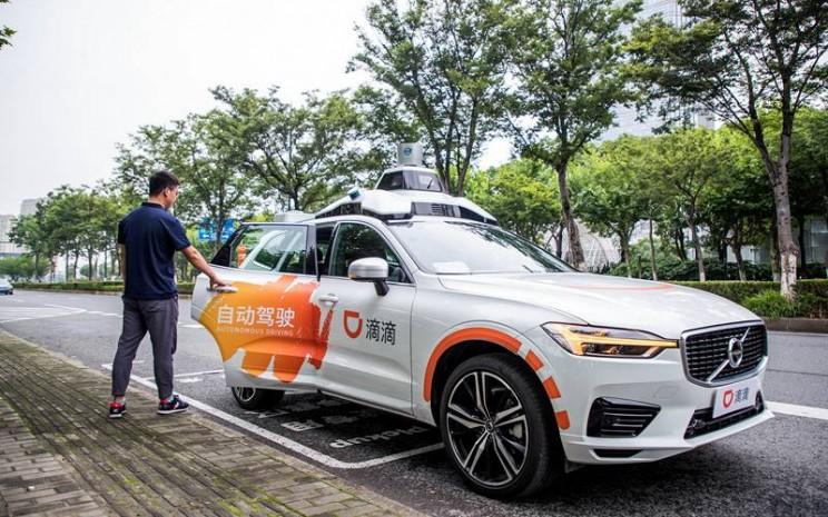 Mobil otonom DiDi di Shanghai.  - Didi
