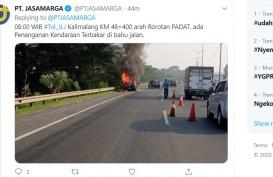 Mobil Terbakar di Tol Kalimalang Km 48, Arah ke Rorotan Tersendat