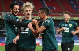 Hasil Liga Inggris : Burnley Lanjutkan Kemenangan, Tundukkan Palace