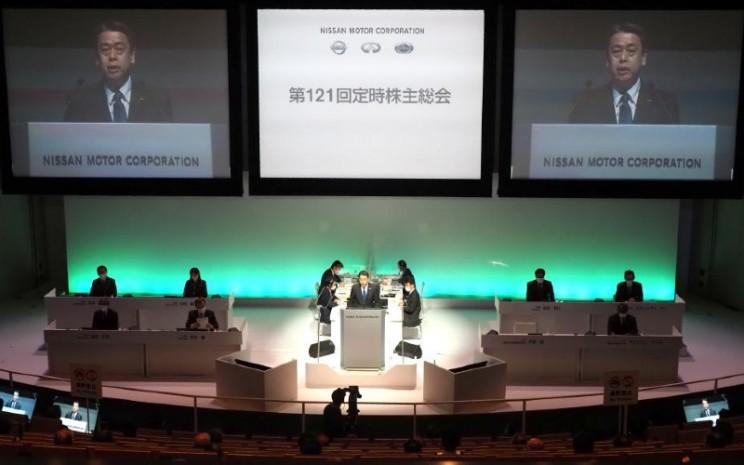 RUPS Nissan di Yokohama, Jumat (29/6 - 2020).