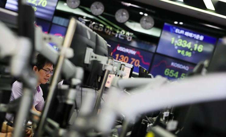 Bursa Saham Korea Selatan. - Seong Joon Cho / Bloomberg