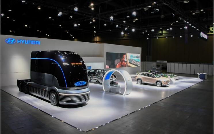 Selain Konsep HDC/6 Neptune, H2 Mobility  Energy Show juga menampilkan generator sel bahan bakar bergerak; dan model skala ekosistem mobilitas cerdasnya. HYUNDAI