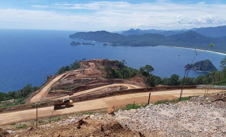 Kondisi hutan Tumpang Pitu Banyuwangi yang menjadi area konsensi tambang emas oleh PT Bumi Suksesindo yang merupakan anak usaha PT Merdeka Copper Gold Tbk (MDKA). JIBI - Bisnis/Peni Widarti