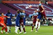 Hasil Liga Inggris : Gol Menit Akhir, West Ham Tundukkan Chelsea