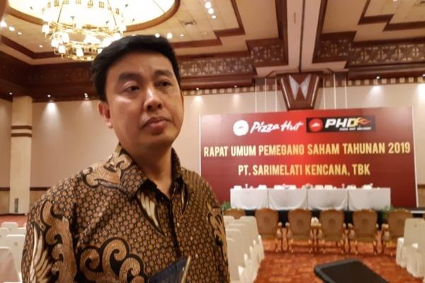 Direktur PT Sarimelati Kencana Tbk. Jeo Sasantousai rapat umum pemegang saham pada Rabu (24/4/2019). - Bisnis/Azizah Nur Alfi