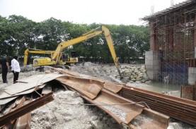 Pengendalian Banjir Surabaya, Pengerjaan Rumah Pompa…