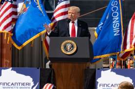 Pidato 4 Juli, Donald Trump: 99 Persen Kasus Covid-19…