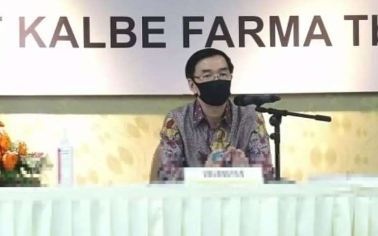 Presiden Direktur PT Kalbe Farma Tbk. Vidjongtius dalam rapat umum pemegang saham 2019 di Jakarta, Senin (18/5/2020) - Kalbe Farma.
