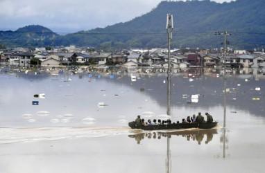 Banjir di Jepang Tewaskan 25 Orang, Puluhan Warga Masih Hilang