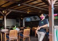 Suasana tempat wisata di Bali yang masih sepi/Bloomberg - Putu Sayoga