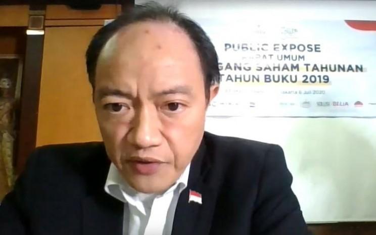 Direktur Utama PT Martina Berto Tbk. Bryan David Emil memberikan pemaparan dalam public expose virtual, Senin (6/7/2020). - Istimewa