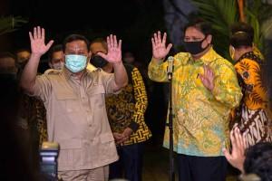 Prabowo Subianto dan Airlangga Hartarto Lakukan Pertemuan Tertutup