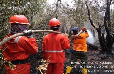 Sekitar 12 Kompi Personel TNI Siap Padamkan Kebakaran Hutan di Sumsel