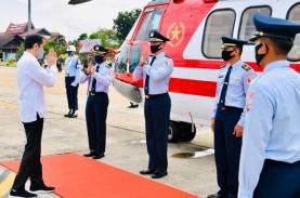 Berkunjung ke Kapuas, Presiden Jokowi Gunakan Heli…