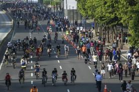 Zona Merah Covid-19, Satu Kawasan Sepeda Jakarta Pusat…