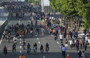 Zona Merah Covid-19, Satu Kawasan Sepeda Jakarta Pusat Ditutup