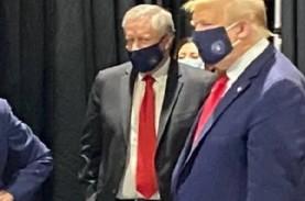 Trump Akhirnya Pakai Masker di Depan Publik