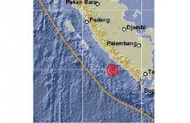 Gempa M 5.0 Guncang Bengkulu, Tak Berpotensi Tsunami