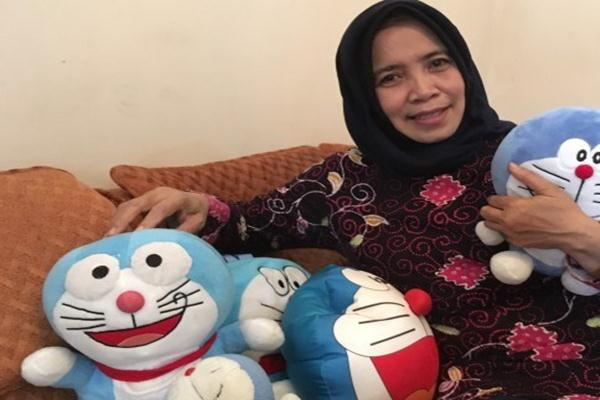 Pengisi suara Doraemon, Nurhasanah. - Antara