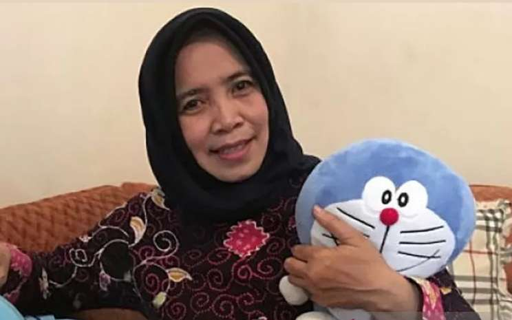 Nurhasanah, pengisi suara dalam film Doraemon. - ANTARA