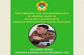 Anggota DPRD Jateng, Politikus Golkar yang Ketua LDII Solo Meninggal akibat Covid-19