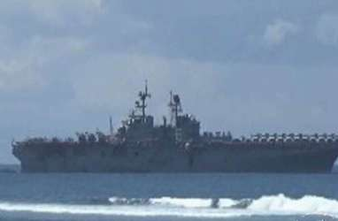 Kapal Perang AS Terbakar, 21 Orang Cedera