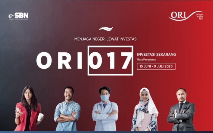 Banner iklan ORI017. Pemesanan ORI017 masih bisa dilakukan hingga 9 Juli 2020 mendatang. Pemerintah menaikkan target penerbitan menjadi Rp15 triliun menyusul animo investor yang tinggi. - kemenkeu.go.id