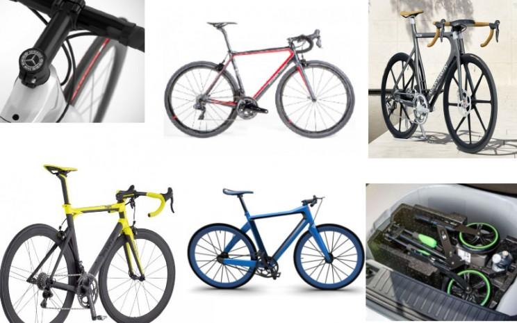 Bermacam sepeda keluaran pabrikan mobil mewah.  - Antara