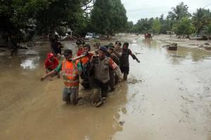 Banjir Bandang Luwu Utara Sulsel Akibatkan Puluhan Rumah Hanyut Terbawa Arus