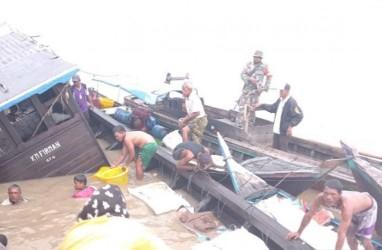 Kapal Pengangkut Sembako Tenggelam di Indragiri Hilir, Riau