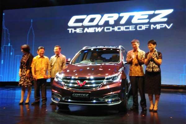 Peluncuran Wuling Cortez.  - Bisnis.com/MKI