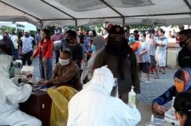 Covid-19 di Surabaya 7.331 Kasus, Tes di Pasar Kaputran…