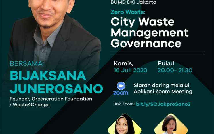 Official Poster Webinar Jakpro Zero Waste: City Waste Management Governance.