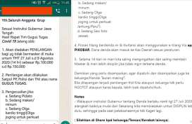 Hoaks Parah, Denda Masker Rp150.000 di Jateng, Setornya ke PIKOBAR Jabar