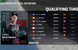 Quartararo Pole Position, Tekuk Marquez di Kualifikasi MotoGP Spanyol